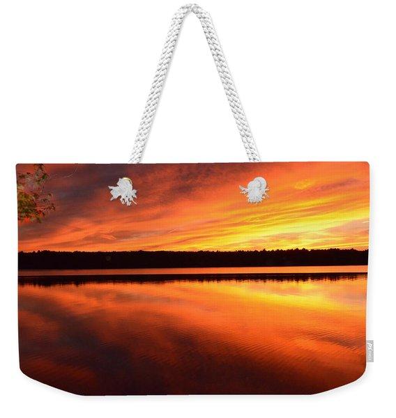 Spectacular Orange Mirror Weekender Tote Bag