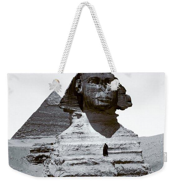 Sphinx And Giza Pyramid - 1900 Weekender Tote Bag