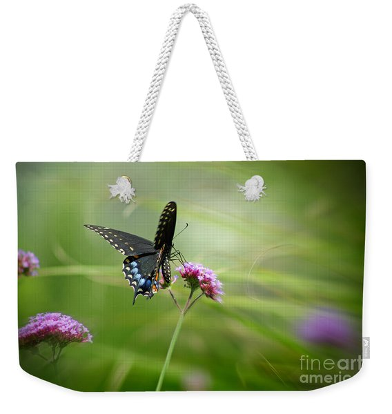 Spicebush Swallowtail Butterfly Weekender Tote Bag