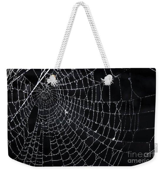 Spiderweb With Dew Weekender Tote Bag