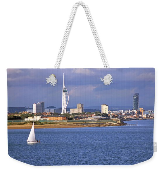 Spinnaker Tower And Gunwharf Quays Weekender Tote Bag