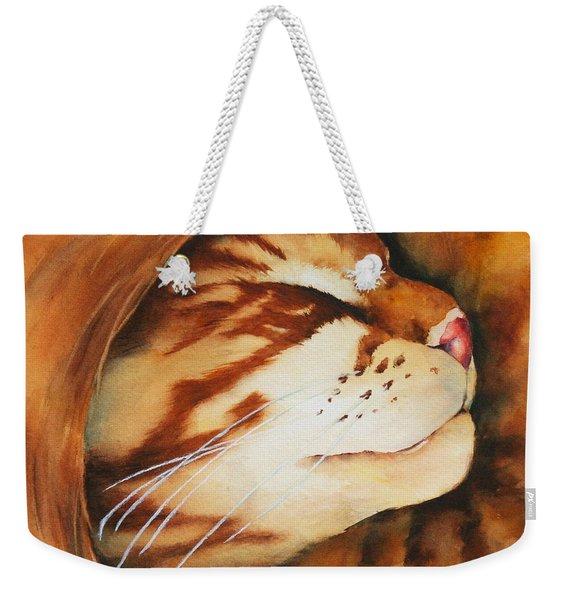 Spiral Cat Weekender Tote Bag
