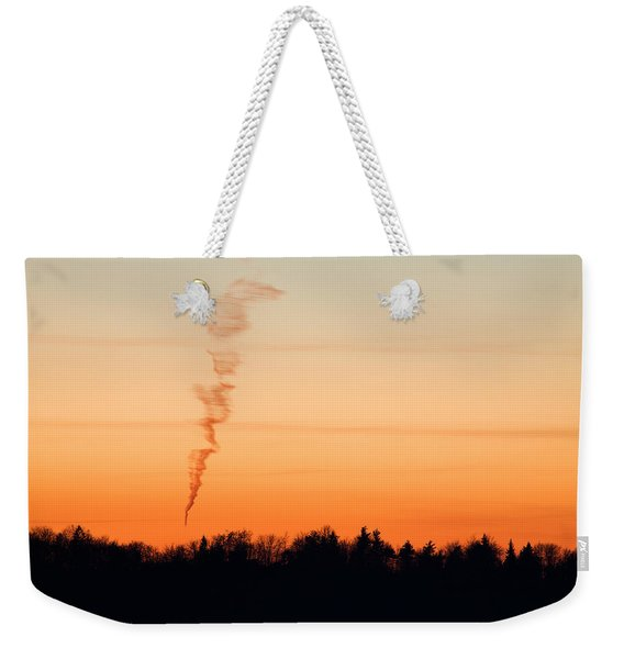 Spiral Cloud At Sunset Weekender Tote Bag