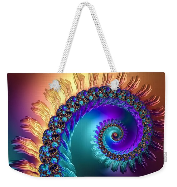Spiral With Beautiful Orange Purple Turquoise Colors Weekender Tote Bag