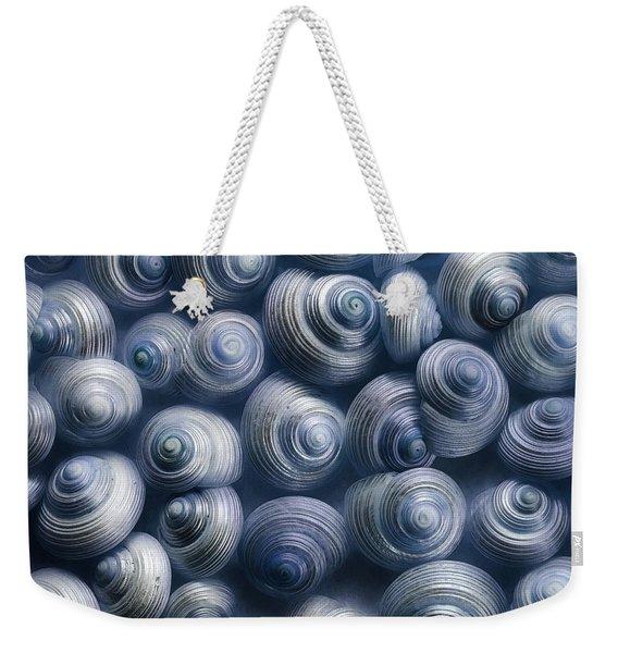 Spirals Blue Weekender Tote Bag