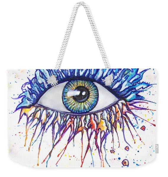 Splash Eye 1 Weekender Tote Bag