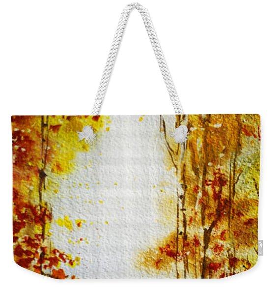 Splash Of Fall Weekender Tote Bag