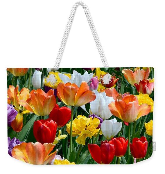 Splash Of Spring Weekender Tote Bag