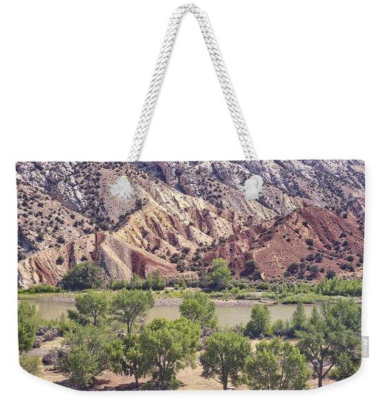 Split Mountain Geology Weekender Tote Bag