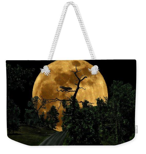 Spooky Road Weekender Tote Bag