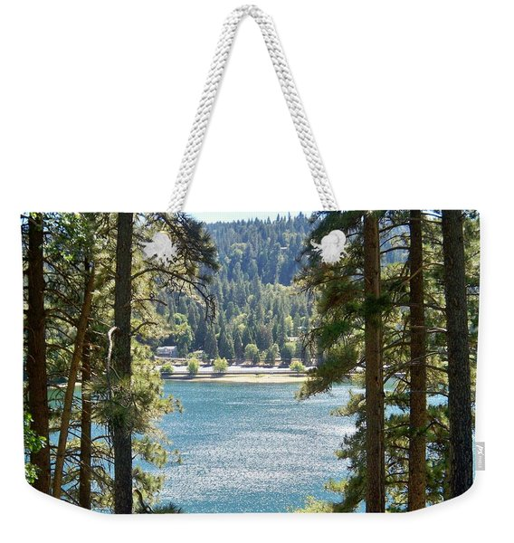 Forrest Mountain Trees Lake Scenic Photography Lake Gregory San Bernardino California - Ai P. Nilson Weekender Tote Bag