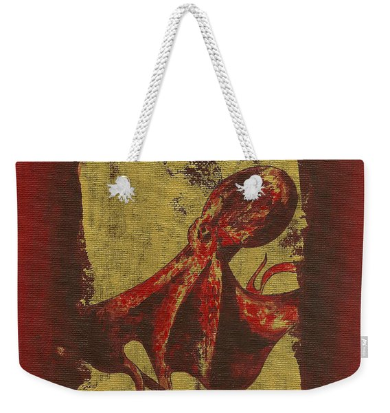 Spotted Red Octopus Weekender Tote Bag