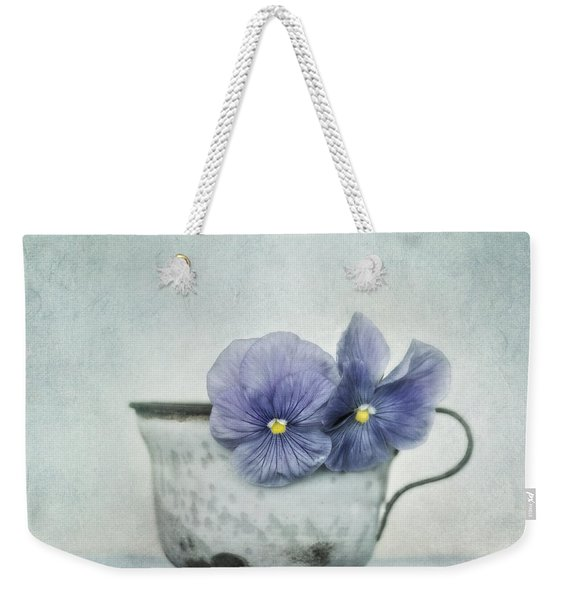 Spring Blues With A Hint Of Yellow Weekender Tote Bag