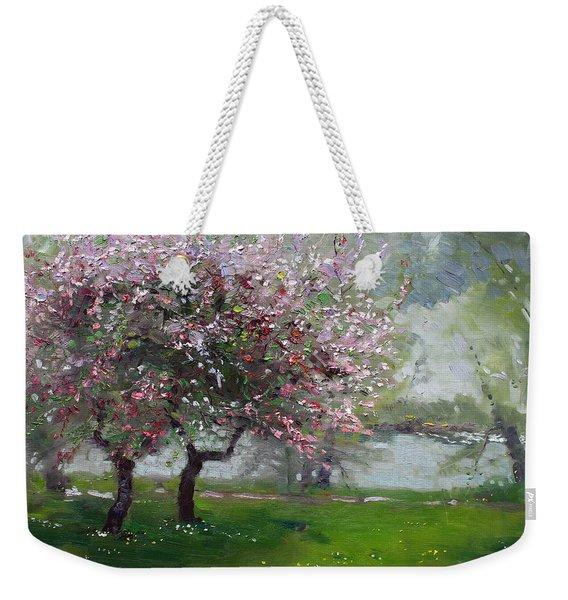 Spring By The River Weekender Tote Bag