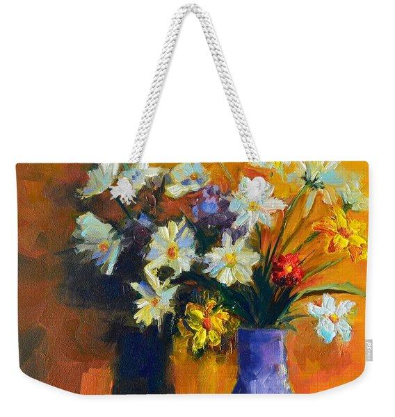 Spring Flowers In A Vase Weekender Tote Bag