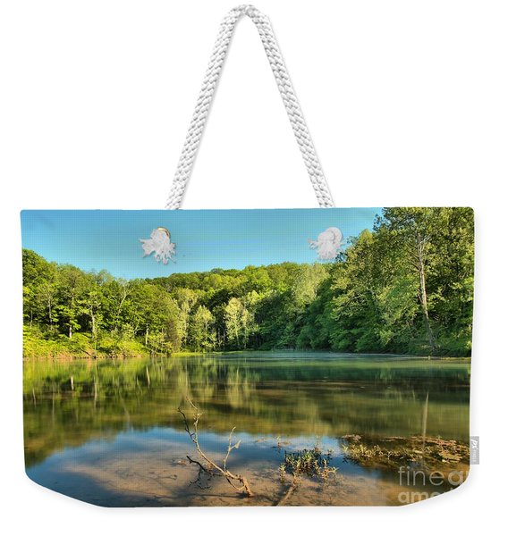 Spring Mill Lake Weekender Tote Bag
