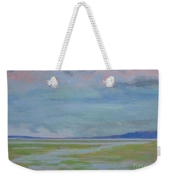 Spring Rain At Lake Jackson Weekender Tote Bag