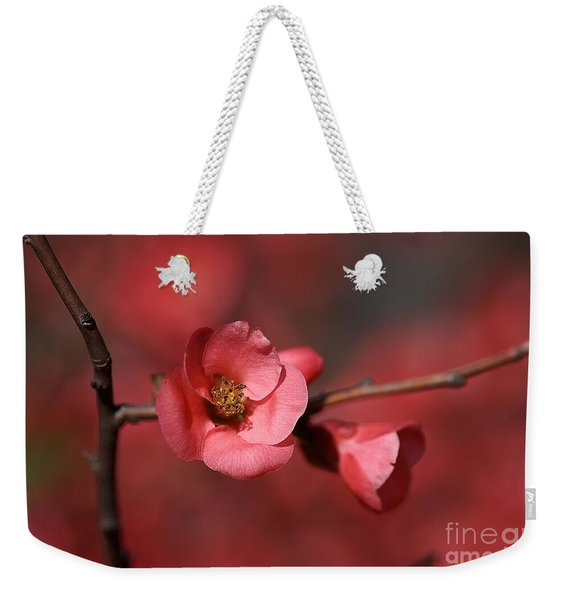Spring Richness - Flowering Quince Weekender Tote Bag
