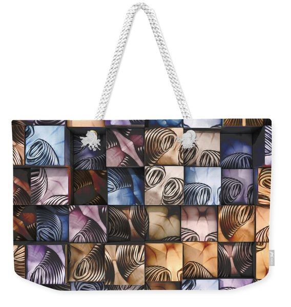 Springs And Squares Weekender Tote Bag