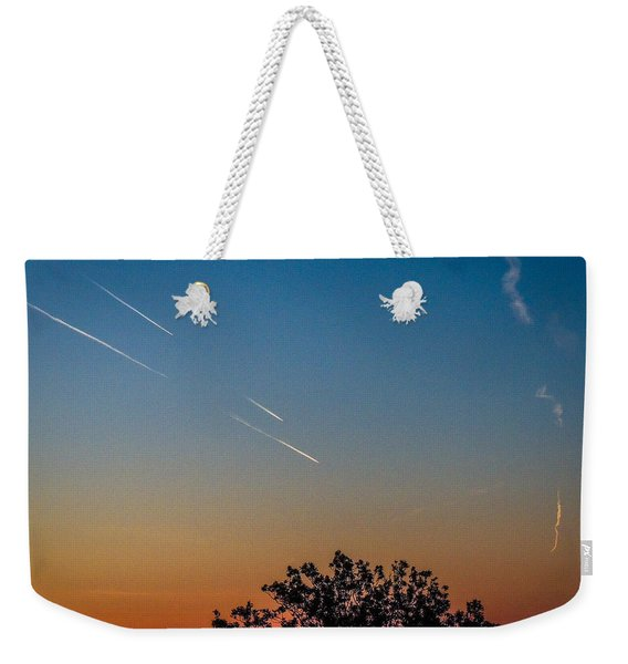 Squadron Of Jet Trails Over Ireland Weekender Tote Bag