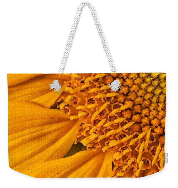 Square Sunflower Weekender Tote Bag