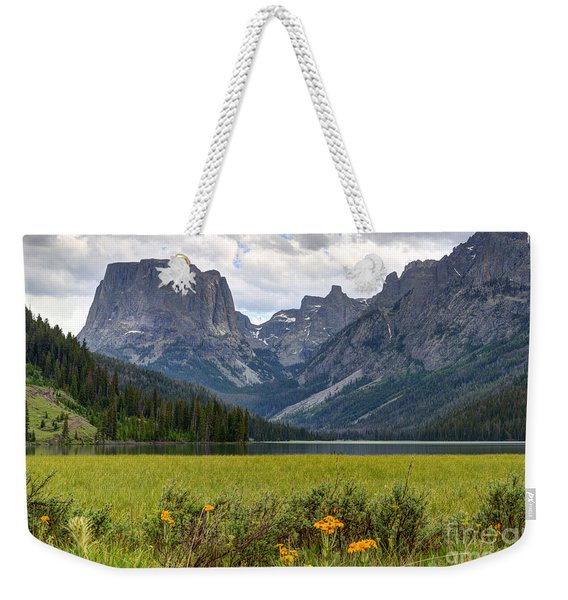 Squaretop Mountain And Upper Green River Lake  Weekender Tote Bag
