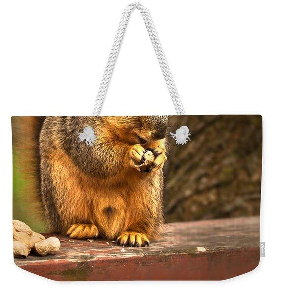 Squirrel Eating A Peanut Weekender Tote Bag