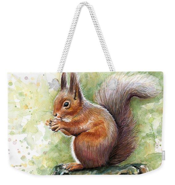 Squirrel Watercolor Art Weekender Tote Bag
