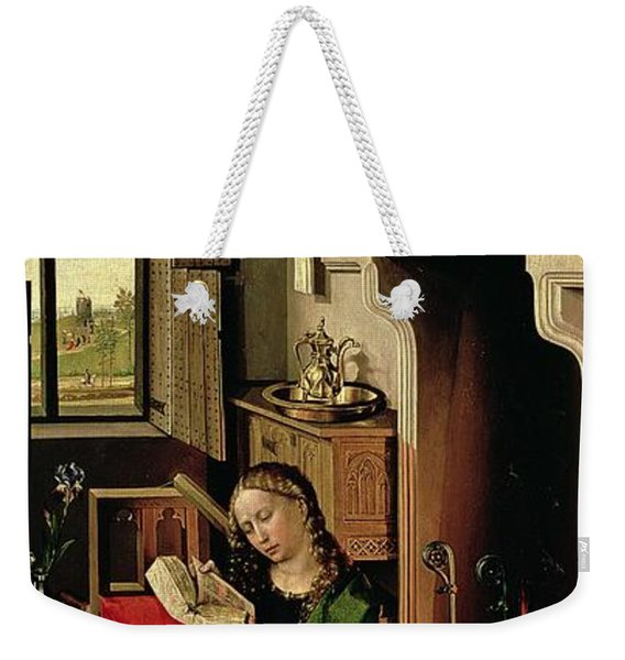 St. Barbara From The Right Wing Of The Werl Altarpiece, 1438 Oil On Panel See Also 68547 Weekender Tote Bag