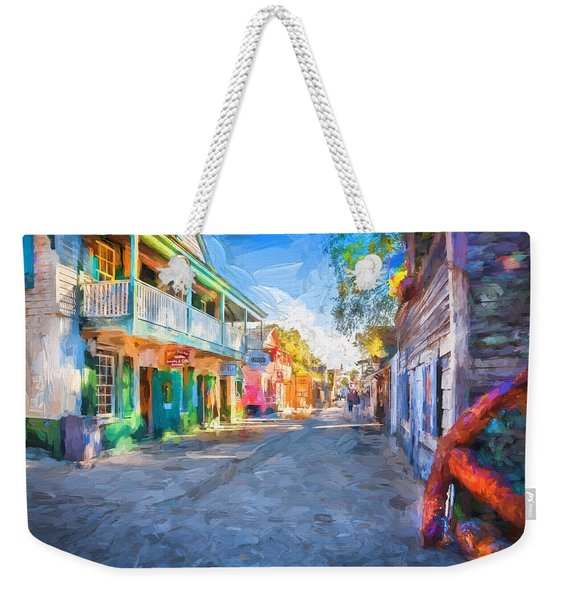 St George Street St Augustine Florida Painted Weekender Tote Bag
