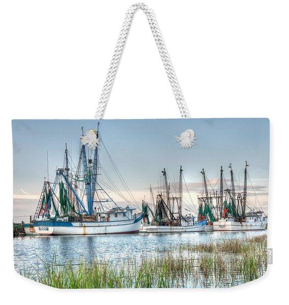 St. Helena Island Shrimp Boats Weekender Tote Bag