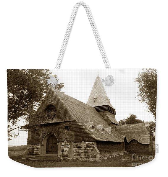 St. Johns Chapel Del Monte Monterey California 1895 Weekender Tote Bag
