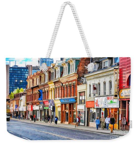 Yonge Street In Toronto Weekender Tote Bag