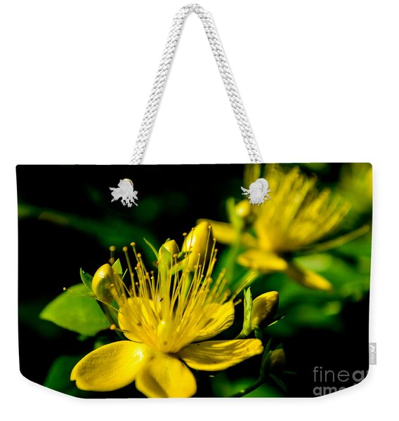 Weekender Tote Bag featuring the photograph St John's Wort by Scott Lyons