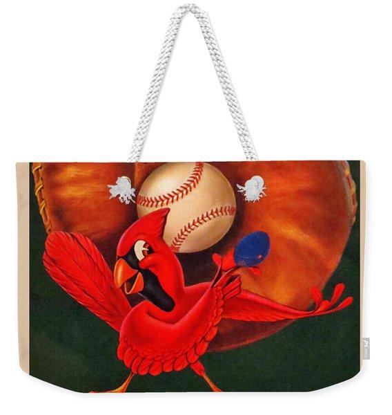 St. Louis Cardinals Vintage 1954 Scorecard Weekender Tote Bag