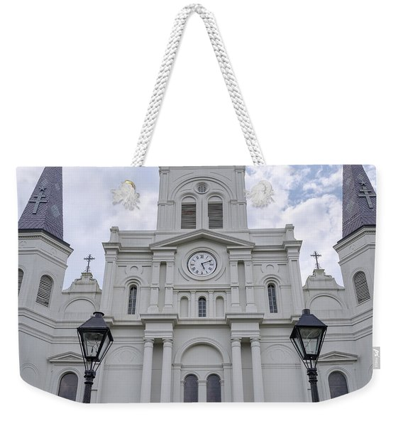 St. Louis Cathedral Close-up Weekender Tote Bag