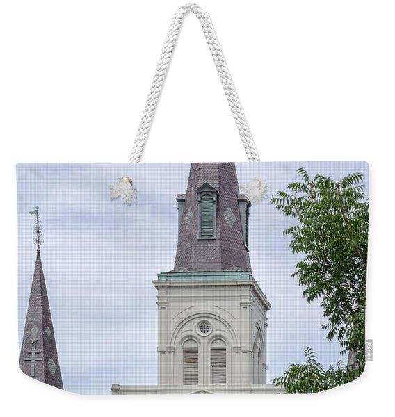 St. Louis Cathedral Through Trees Weekender Tote Bag