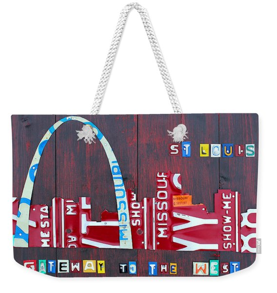 St. Louis Skyline License Plate Art Weekender Tote Bag