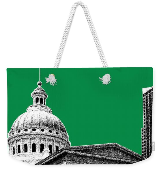 St Louis Skyline Old Courthouse - Forest Weekender Tote Bag