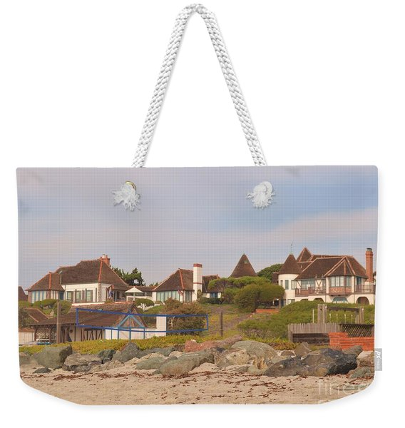 Weekender Tote Bag featuring the photograph St. Malo Beach by Laurie Lundquist