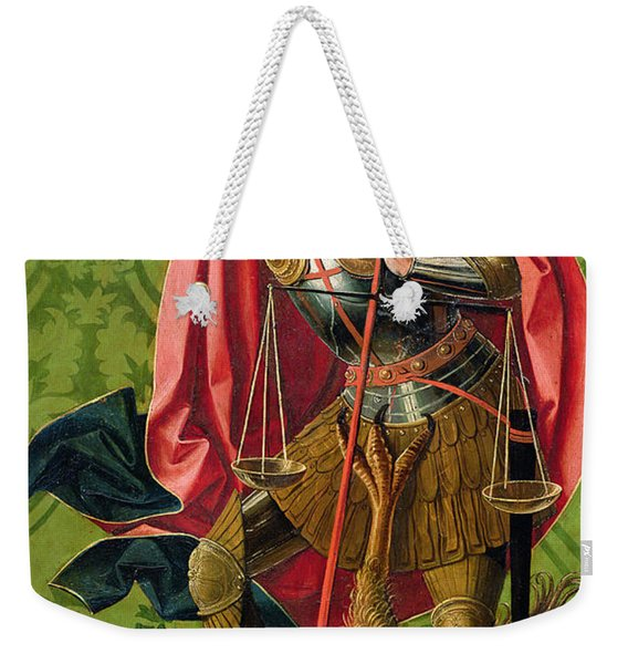 St. Michael Killing The Dragon  Weekender Tote Bag