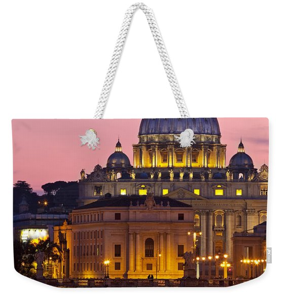 Weekender Tote Bag featuring the photograph St Peters Basilica by Brian Jannsen