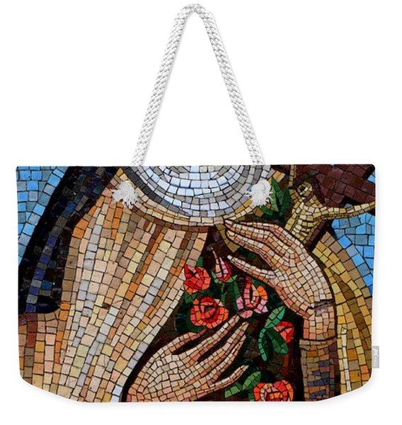 St. Theresa Mosaic Weekender Tote Bag