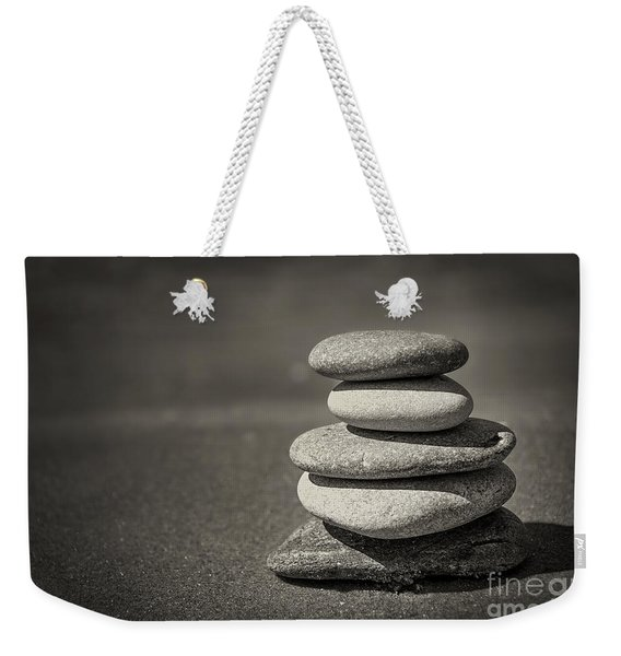 Stacked Pebbles On Beach Weekender Tote Bag