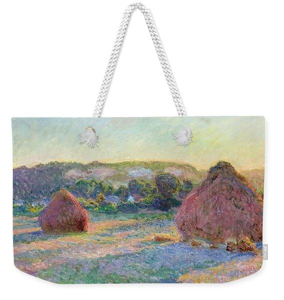 Stacks Of Wheat. End Of Summer Weekender Tote Bag