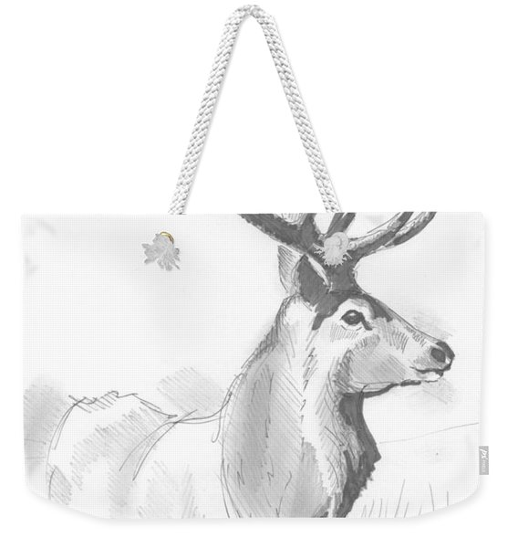 Stag Drawing Weekender Tote Bag