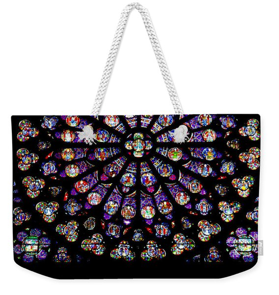 Stained Glass At Notre Dame Weekender Tote Bag