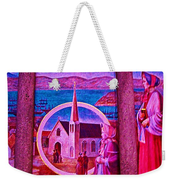 Stained Glass Window Of Grace Chapel In Grace Cathedral In San Francisco-california Weekender Tote Bag