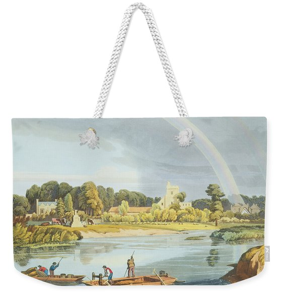 Staines Church With City Stone On Banks Weekender Tote Bag