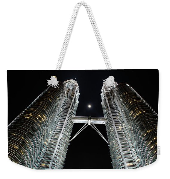 Stainless Steel Moon Weekender Tote Bag